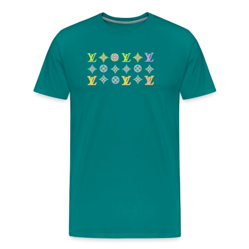 custom coloured LV pattern. - Men's Premium T-Shirt