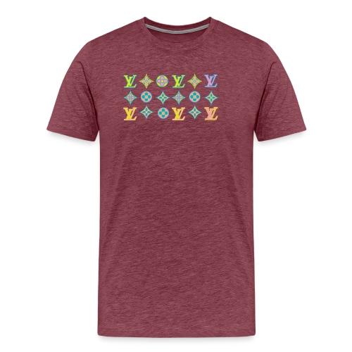 custom coloured LV pattern. - Men's Premium T-Shirt