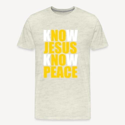 Know Jesus Know Peace - Men's Premium T-Shirt