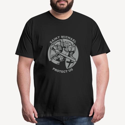 SAINT MICHAEL PROTECT US - Men's Premium T-Shirt