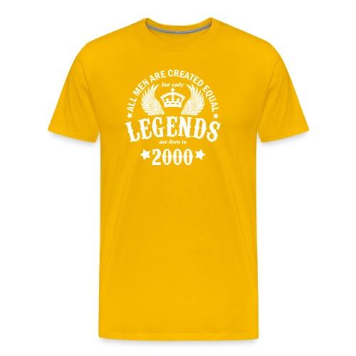 Legends are Born in 2000 - Men's Premium T-Shirt