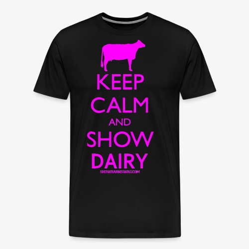 Keep Calm Dairy Pink - Men's Premium T-Shirt