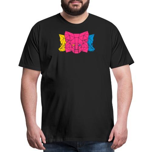 MetaMask Multi Colored Triple Head - Men's Premium T-Shirt