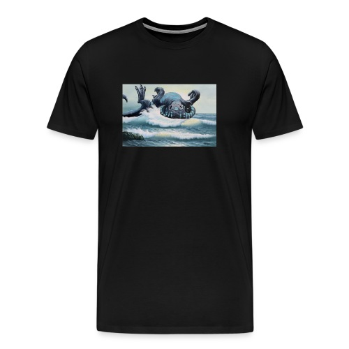 A North Atlantic Hydrobeest Frolics In The Waves - Men's Premium T-Shirt