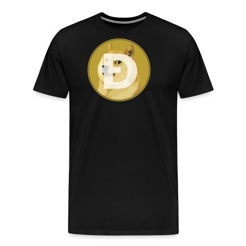 DogeCoin Logo - Men's Premium T-Shirt