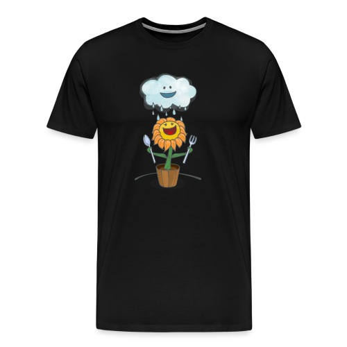 Cloud & Flower - Best friends forever - Men's Premium T-Shirt