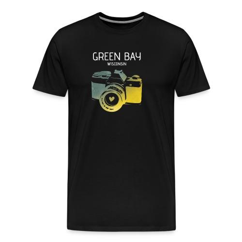 Green Bay camera with heart - Men's Premium T-Shirt