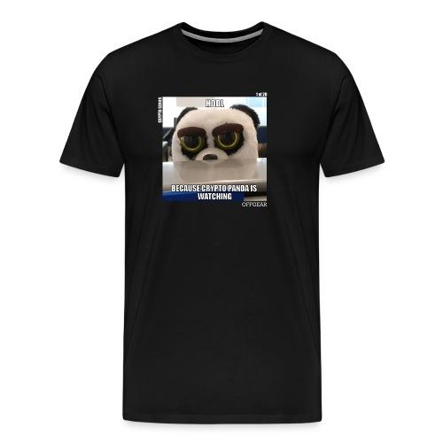 Crypto Panda Is Watching (Crypto Series) - Men's Premium T-Shirt