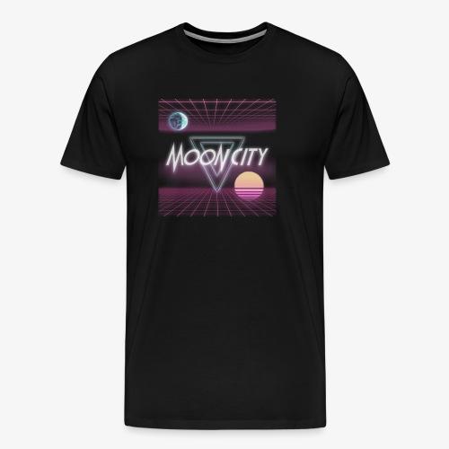 Moon City Retrogrid - Men's Premium T-Shirt
