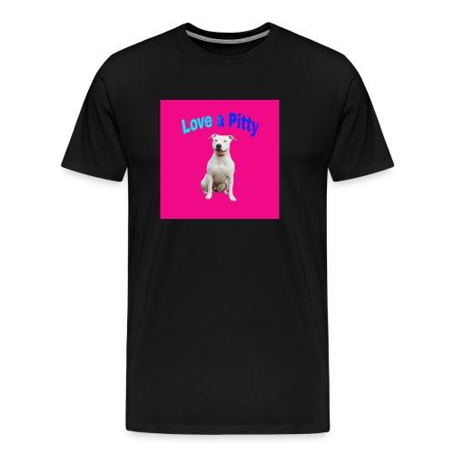 Pink Pit Bull - Men's Premium T-Shirt