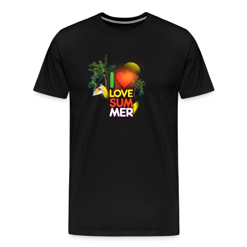 I love summer - Men's Premium T-Shirt