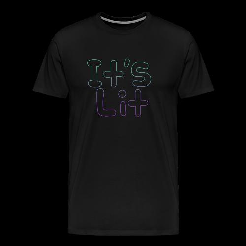 2-Tone It's Lit! Design - Men's Premium T-Shirt