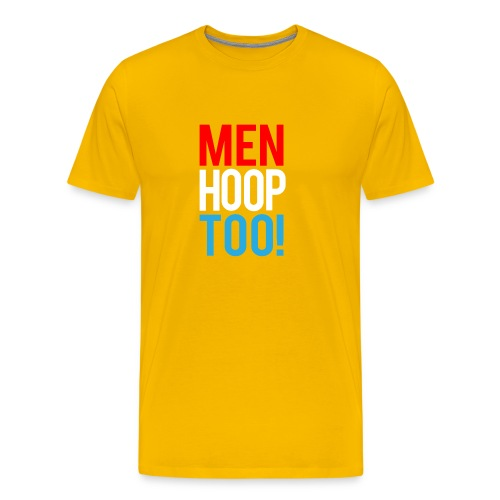 Red, White & Blue ---- Men Hoop Too! - Men's Premium T-Shirt