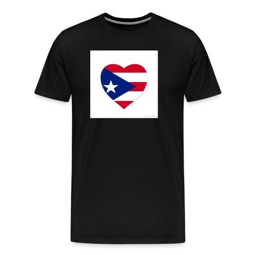 puerto rico heart flag - Men's Premium T-Shirt