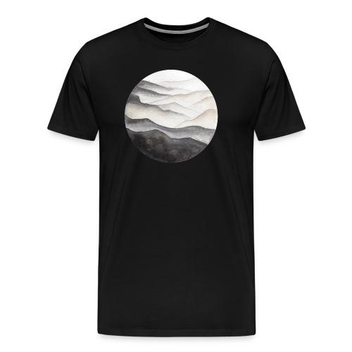 Watercolor Mountains Illustration - Men's Premium T-Shirt