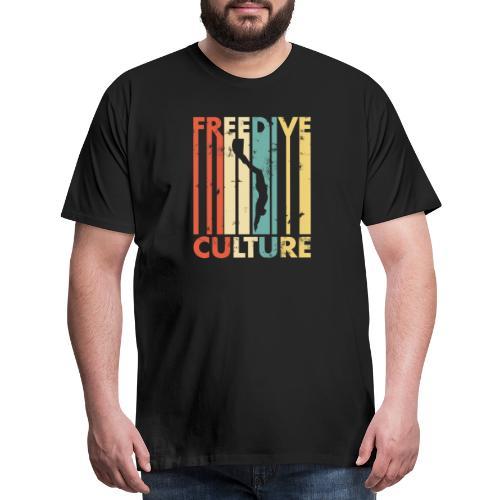 Freedive Culture Vintage Style Silhouette - Men's Premium T-Shirt