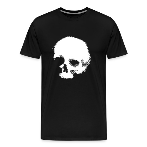 skullscreaming grey halftone - Men's Premium T-Shirt