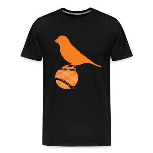 OrioleFlagonBlack - Men's Premium T-Shirt