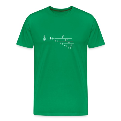 pi continued fraction - Men's Premium T-Shirt