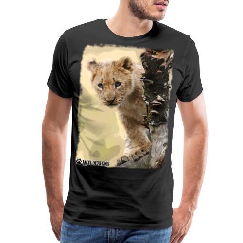 Lion Cub Peeking - Men's Premium T-Shirt