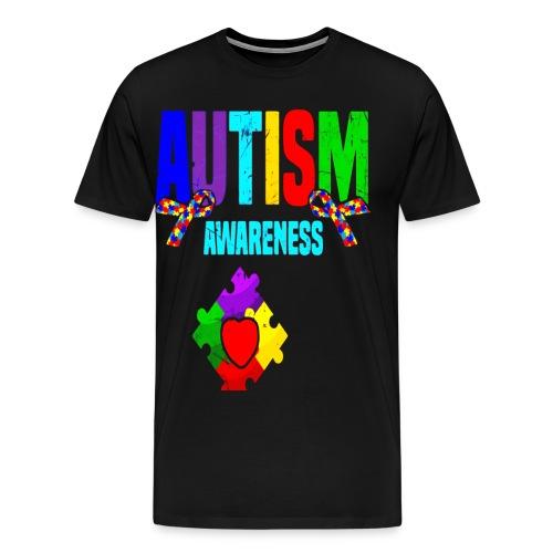 Autism Awareness 2019 Tshirt Autism Puzzle Tee - Men's Premium T-Shirt
