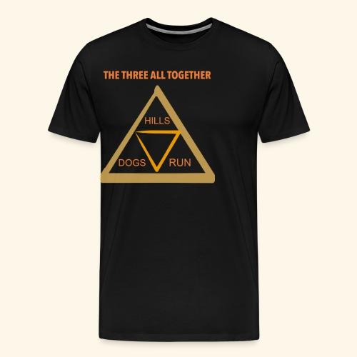 Run4Dogs Triangle - Men's Premium T-Shirt