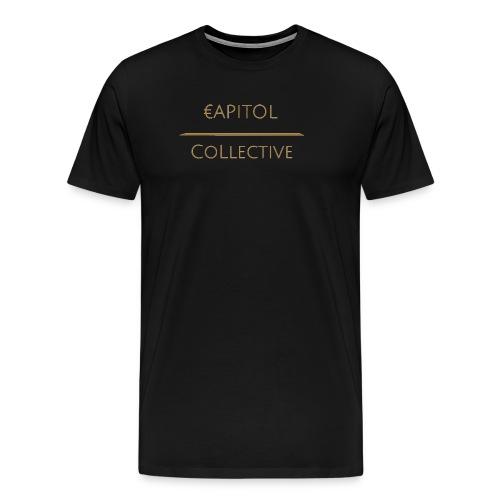 Capitol Collective (gold writing) - Men's Premium T-Shirt