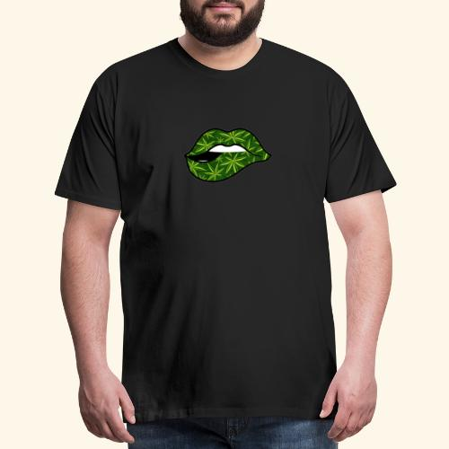 CANNABIS LIPS - WEED LIPS - Men's Premium T-Shirt