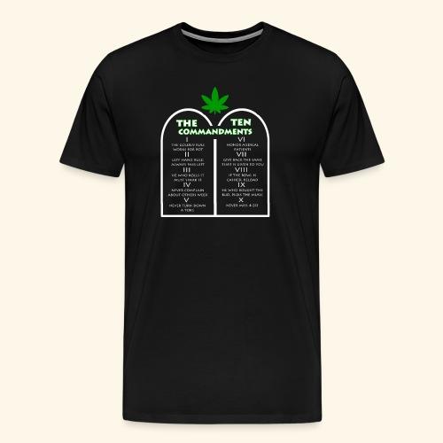 The Ten Commandments of cannabis - Men's Premium T-Shirt