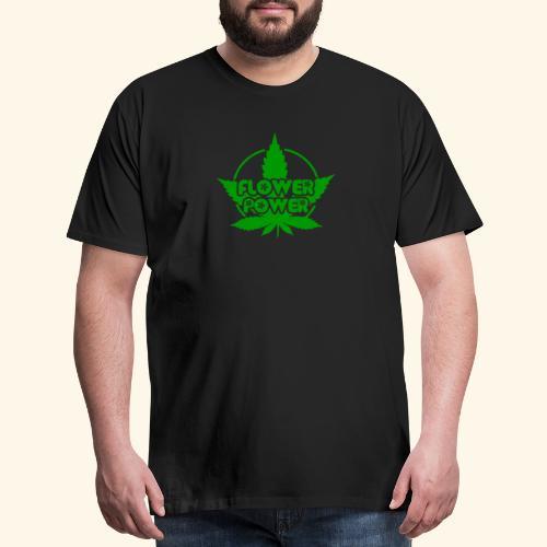 Flower Power Smoker - 420 Hippie Shirt men/women - Men's Premium T-Shirt