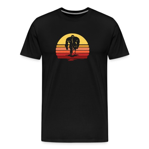 Yeti Sasquatch Bigfoot Sunset - Men's Premium T-Shirt