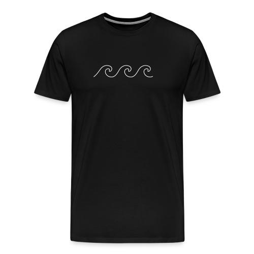 Wave Outline Drawing - Sea Lovers - Men's Premium T-Shirt