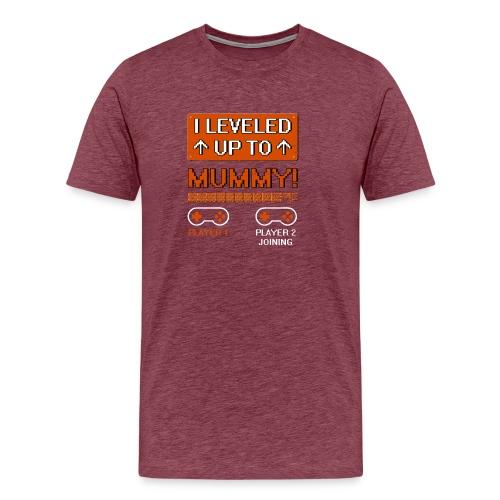 I Leveled Up To Mummy - Men's Premium T-Shirt