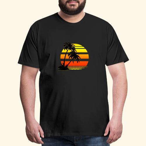 Summer Surfer California Sunset - Men's Premium T-Shirt