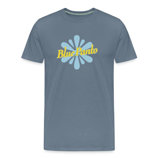 blue panto tshirt logo
