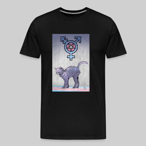 Trans Satanic Cat - Men's Premium T-Shirt