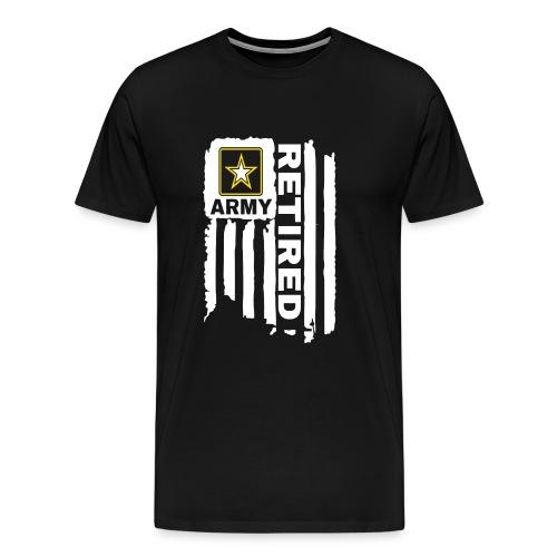 UNITED STATES ARMY FLAG RETIRED - Men's Premium T-Shirt