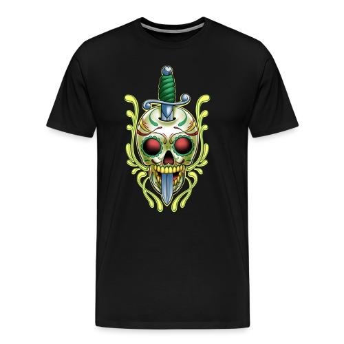 DoD Skull w/Sword by RollinLow - Men's Premium T-Shirt