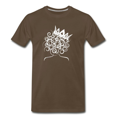 Curly Queen with Crown_ GlobalCouture Women's T-Sh - Men's Premium T-Shirt