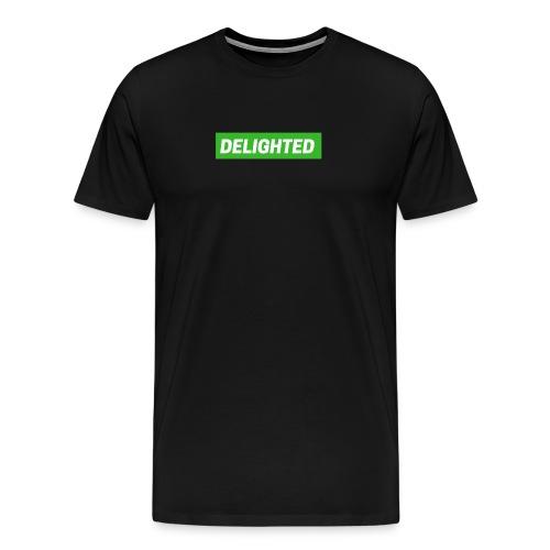 Delighted Logo on Black T-Shirt - Men's Premium T-Shirt