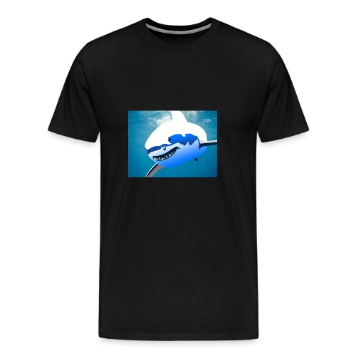 Super Lit Shark Drawing by Adam Tennant - Men's Premium T-Shirt