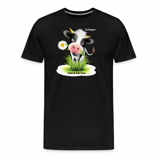 Live & Let Live Cow - Men's Premium T-Shirt