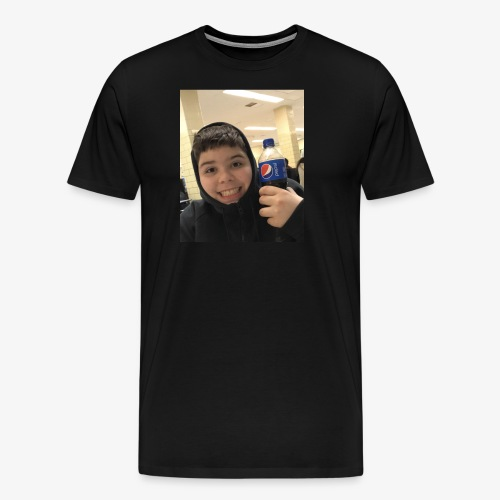 Sotiri with Pepsi Bottle smiling - Men's Premium T-Shirt
