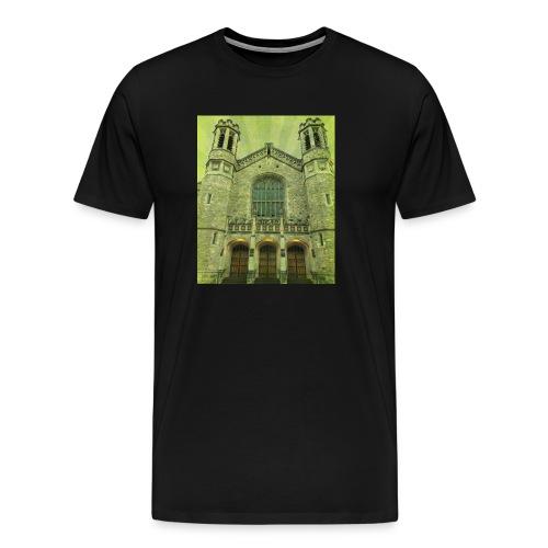 Green gothic cathedral - Men's Premium T-Shirt