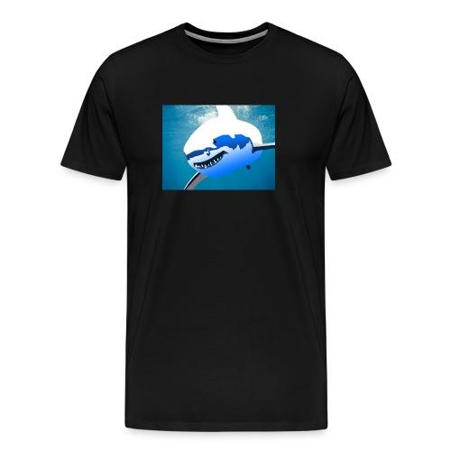 Super Lit Shark Drawing by Adam Tennant - Men's Premium T-Shirt