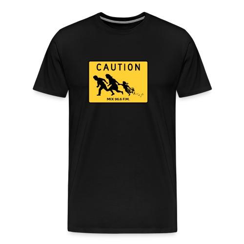 CAUTION SIGN - Men's Premium T-Shirt