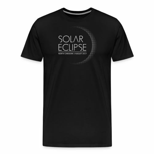 Solar Eclipse North Carolina 2017 - Men's Premium T-Shirt