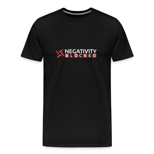 negativity blocked final file png - Men's Premium T-Shirt