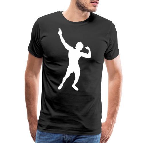 Zyzz Silhouette vector - Men's Premium T-Shirt