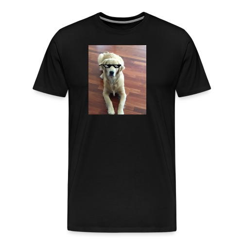 Like a boss (Golden Retriver) - Men's Premium T-Shirt